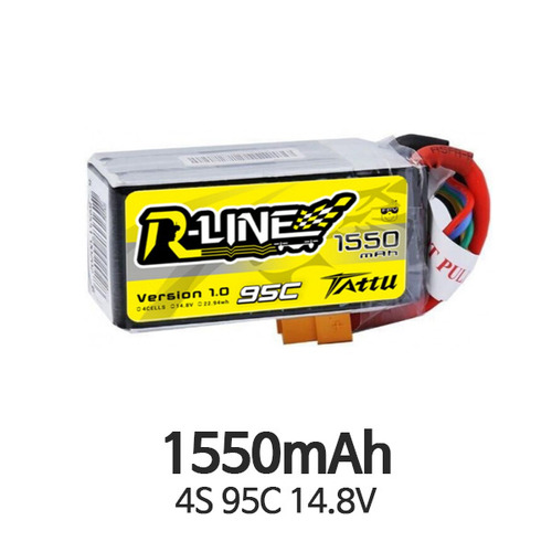 엑스캅터 - Tattu R-Line 1550mAh 95C 4S1P lipo battery pack