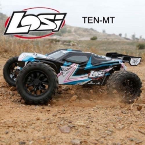 엑스캅터 - [텐엠티] Losi TEN-MT RTR 1/10 Monster Truck (Black/Blue) AVC 자이로 버전