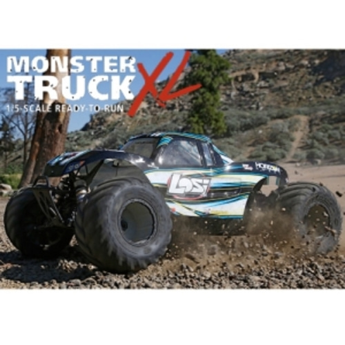 엑스캅터 - Losi Monster Truck XL 1/5 Scale RTR Gas Truck (Black) 29cc 엔진 초대형가솔린 몬스터