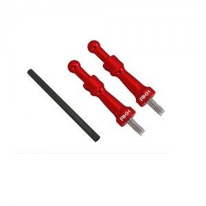 엑스캅터 - CNC AL Canopy Mount Set (Red) - Blade 180 CFX