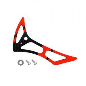 엑스캅터 - CNC CF Tail Fin Set (Black-Red) - Blade 180 CFX