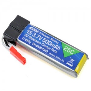 엑스캅터 - E-flite 1S 25C LiPo Battery Pack (3.7V/500mAh)