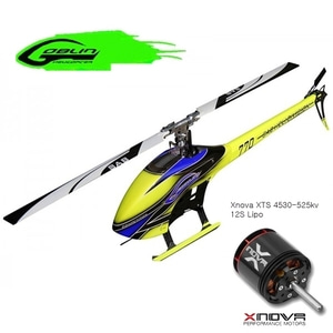 엑스캅터 - RC 헬기 SAB 고블린 770 Competition Flybarless Electric Heli Blue Kit + Xnova XTS 4530-525kv 모터