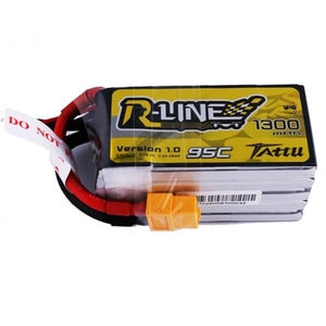 엑스캅터 - Tattu R-Line 18.5V 1300mAh 95C 5S1P lipo battery pack