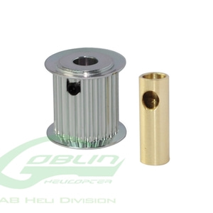 엑스캅터 - Aluminum Motor Pulley 20T (for 6/8mm motor shaft) - Goblin 770/Goblin 700 Competition [H0175-20-S]