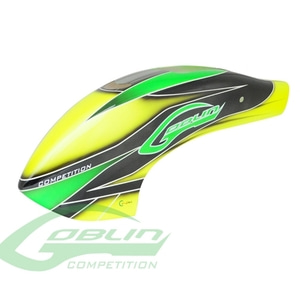 엑스캅터 - H0357-S - Canomod Airbrush Canopy Yellow/Green - Goblin 700/770 Competition