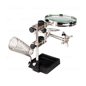 엑스캅터 - (고급형 인두스탠드) Helping Hand Magnifier with Soldering Stand #11256