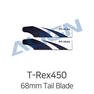 엑스캅터 - ALIGN T-Rex450L 68mm Tail Blade for Dominator 450L