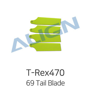 엑스캅터 - ALIGN 티렉스 450L/470L 69 Tail Blade - Fluorescence Yellow