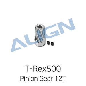 엑스캅터 - 얼라인 티렉스 500L Motor Slant Thread Pinion Gear 12T