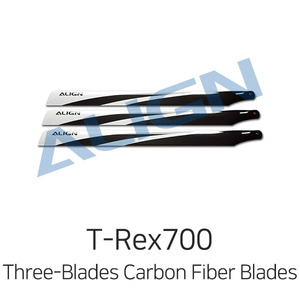 엑스캅터 - ALIGN 티렉스 700E Three-Blades Carbon Fiber Blades - 3ea