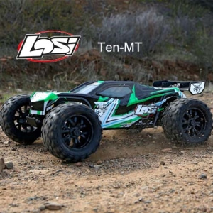 엑스캅터 - [텐엠티] Losi TEN-MT RTR 1/10 Monster Truck (Black/Green) AVC 자이로 버전