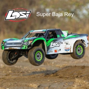 엑스캅터 - [입고완료]슈퍼바자레이 1/6 Super Baja Rey 4WD Desert Truck Brushless RTR with AVC, Black (LOS05013T1)