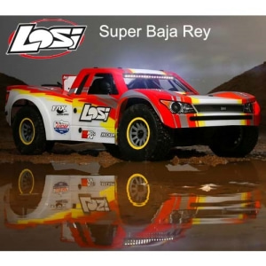 엑스캅터 - [입고완료]슈퍼바자레이 1/6 Super Baja Rey 4WD Desert Truck Brushless RTR with AVC, Red (LOS05013T2)