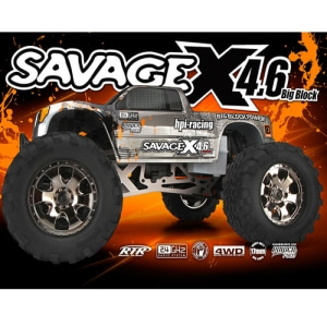 엑스캅터 - HPI 1/8 Savage X 4.6 Big Block RTR Monster Truck w/2.4GHz Radio