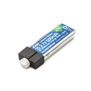 엑스캅터 - 3.7V 500mAh 1S 25C LiPo, High Current UMX Connector(Nano QX2 FPV)