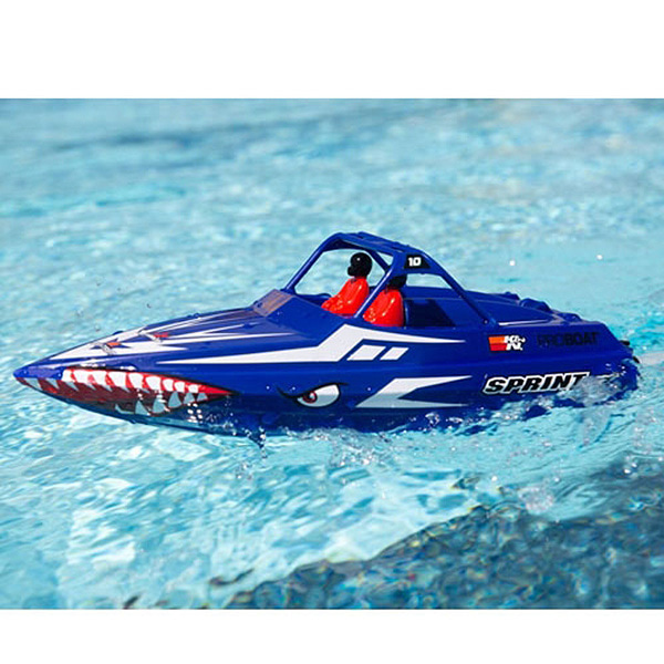 엑스캅터 - PROBOAT Sprintjet 9-inch Self-Right Jet Boat RTR, Blue 조종기 포함